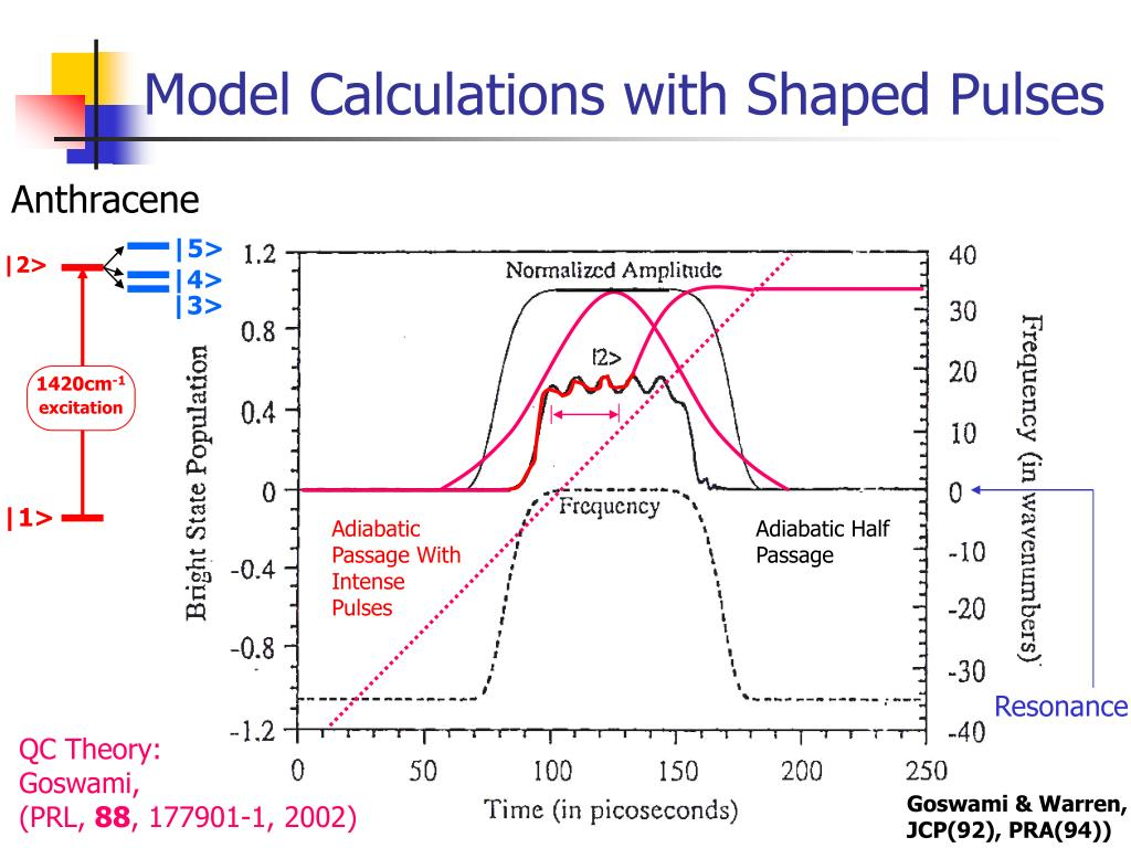 Model Calculations with Shaped Pulses