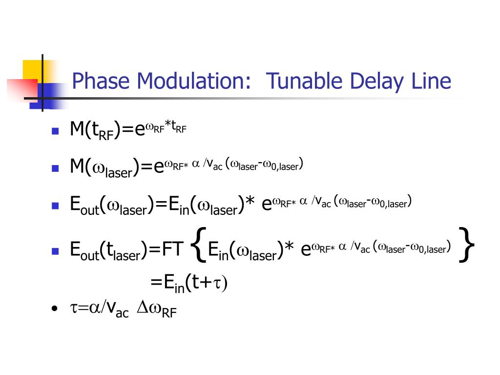 Phase Modulation:  Tunable Delay Line