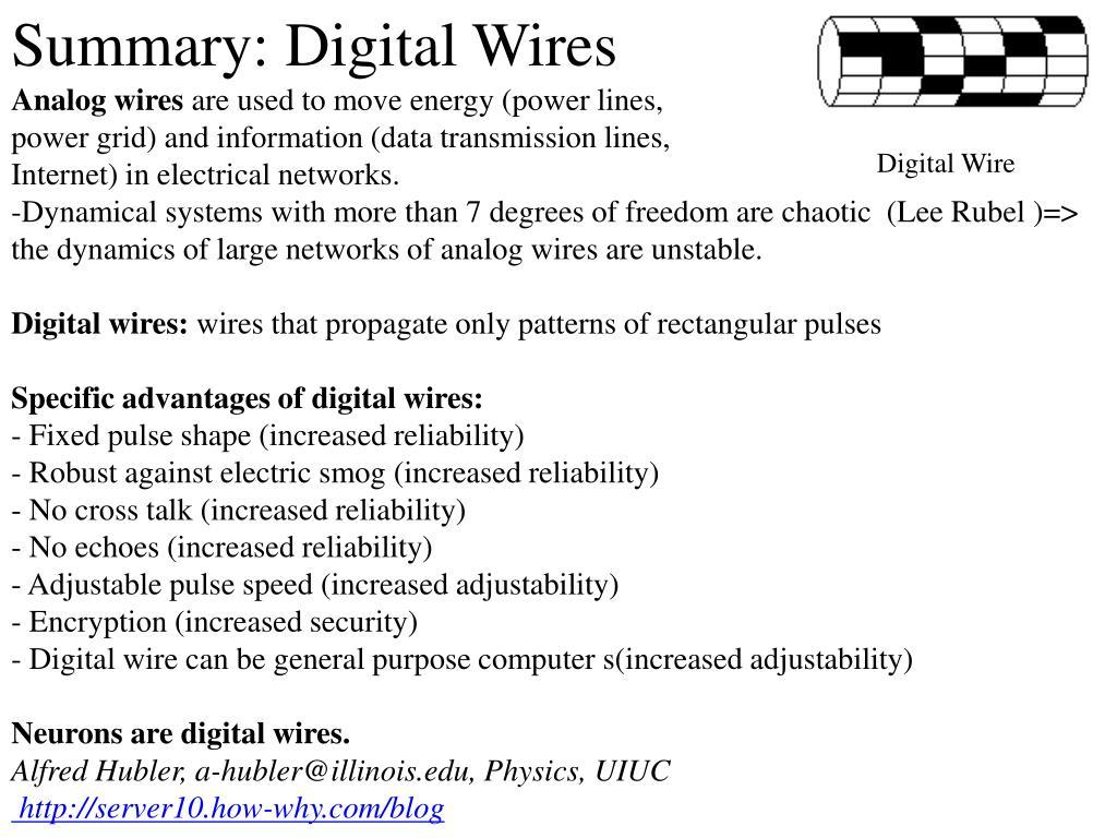 Summary: Digital Wires