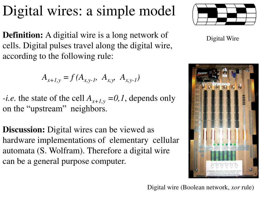 Digital wires: a simple model