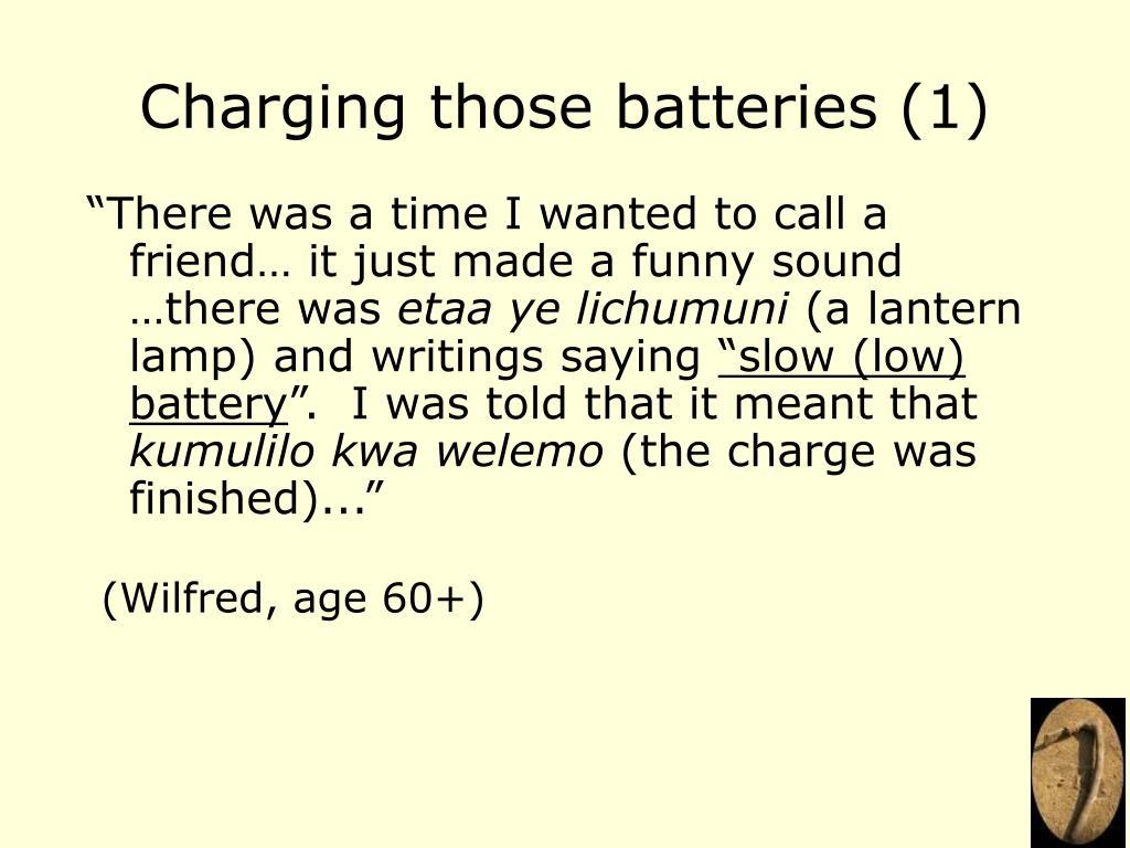 Charging those batteries (1)
