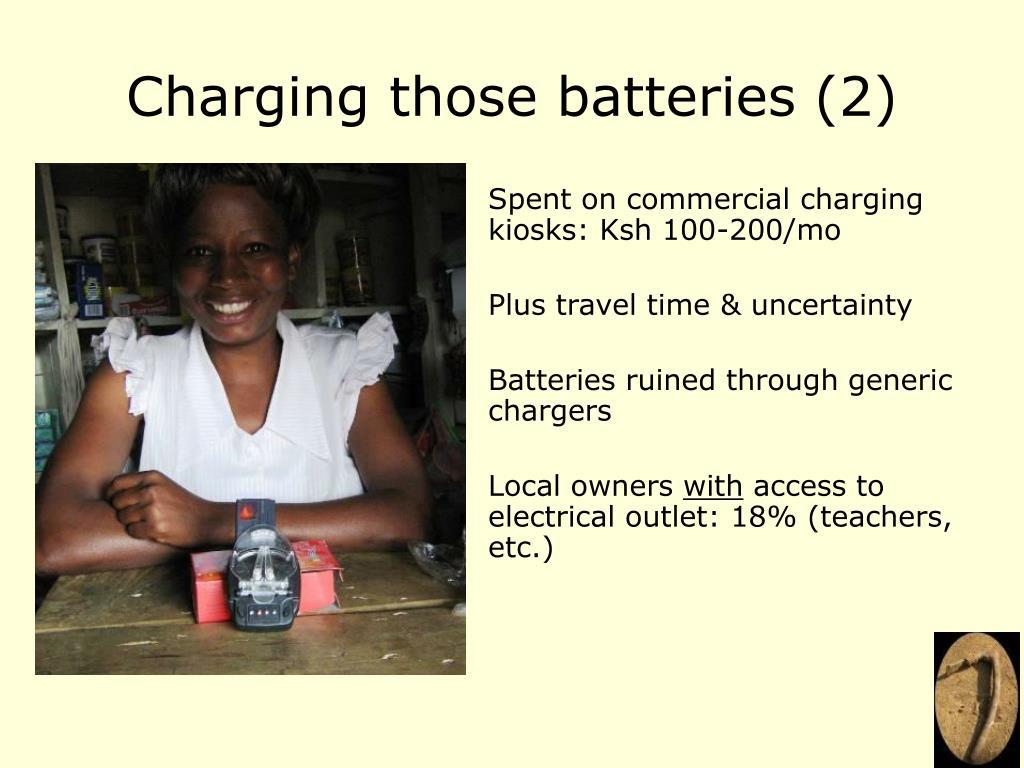 Charging those batteries (2)
