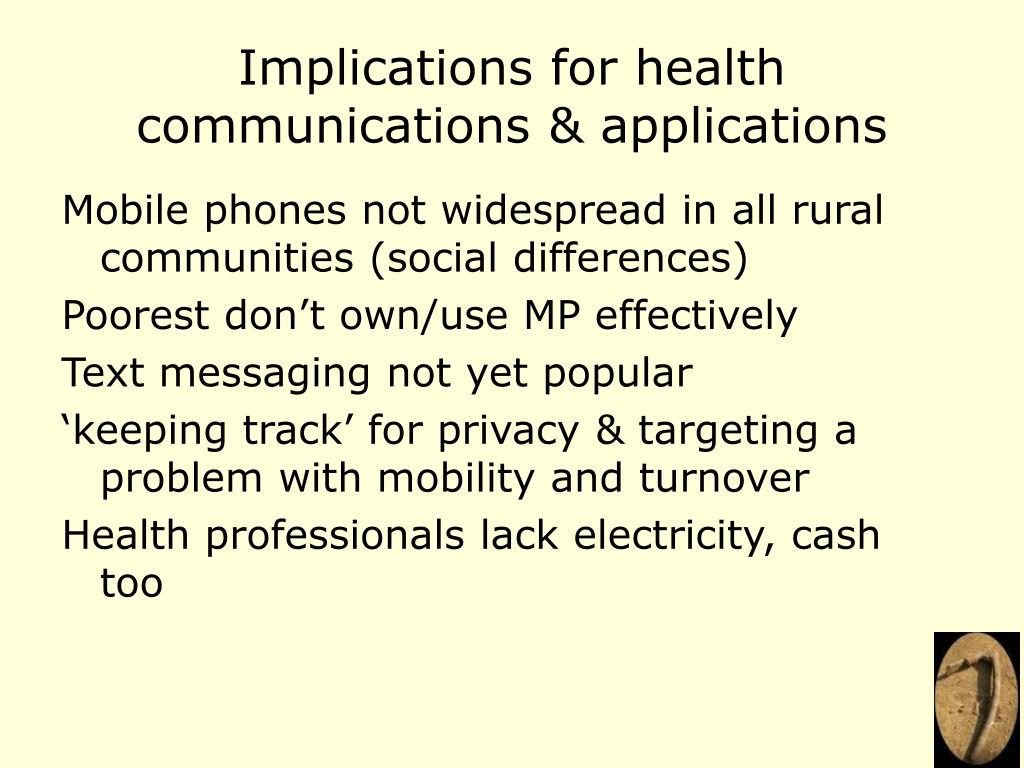 Implications for health communications & applications
