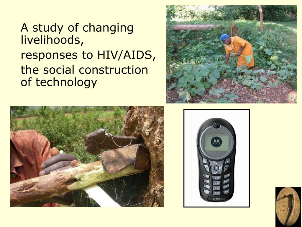 A study of changing livelihoods,