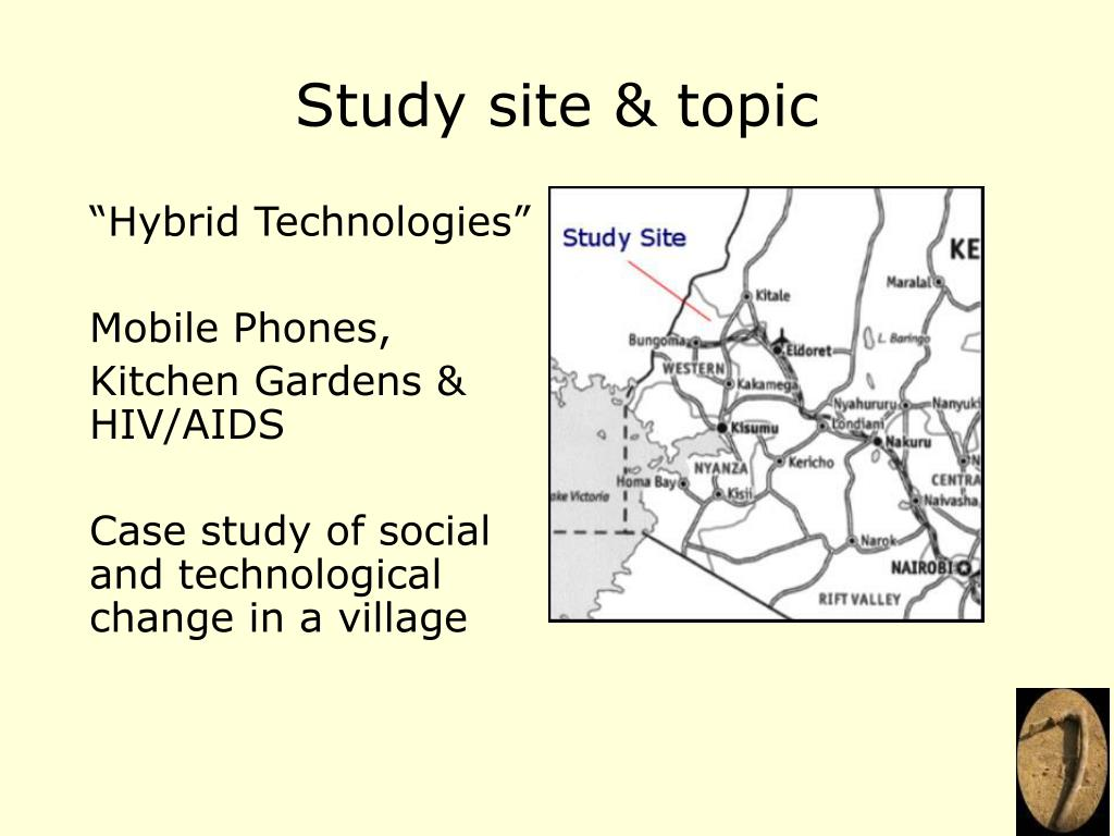 Study site & topic