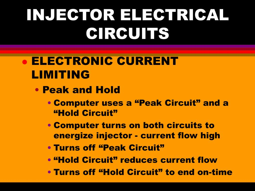 INJECTOR ELECTRICAL CIRCUITS
