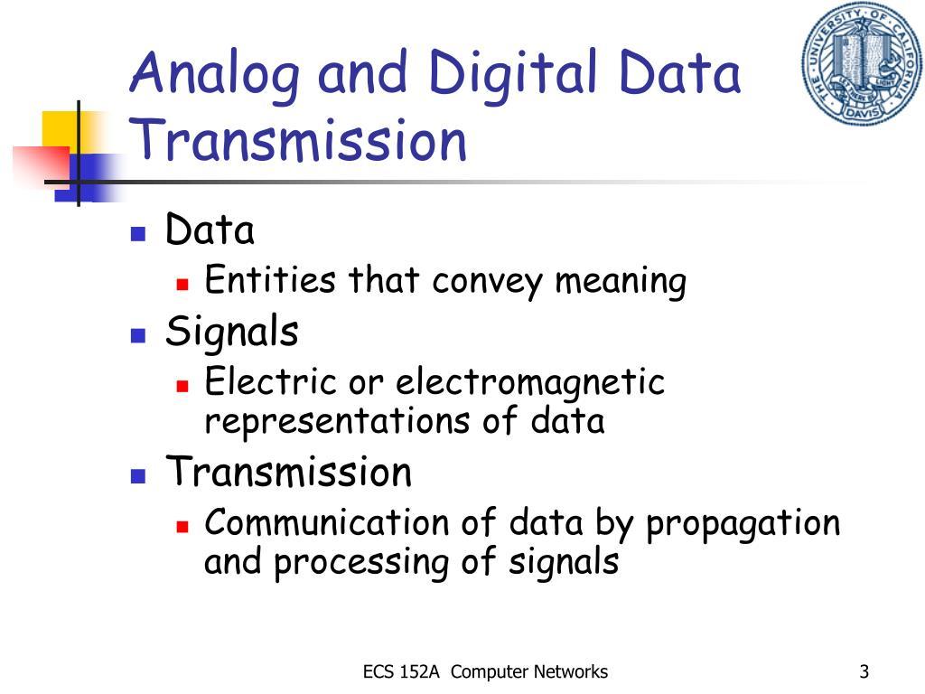 Analog and Digital Data Transmission