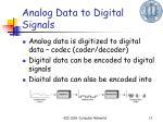 analog data to digital signals