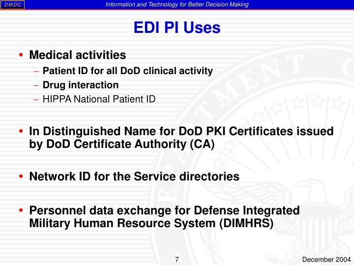 EDI PI Uses