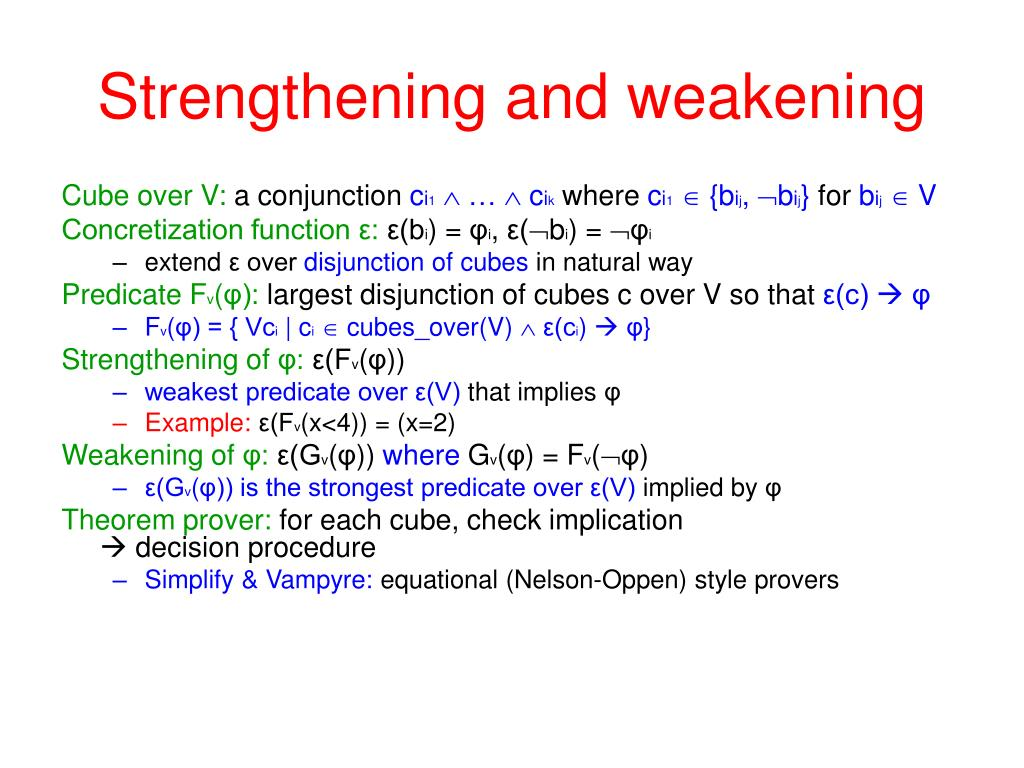 Strengthening and weakening