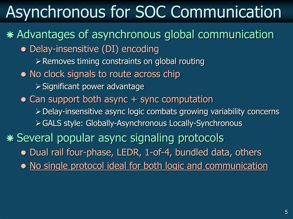 Asynchronous for SOC Communication
