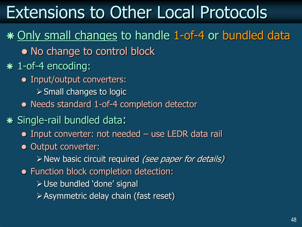 Extensions to Other Local Protocols