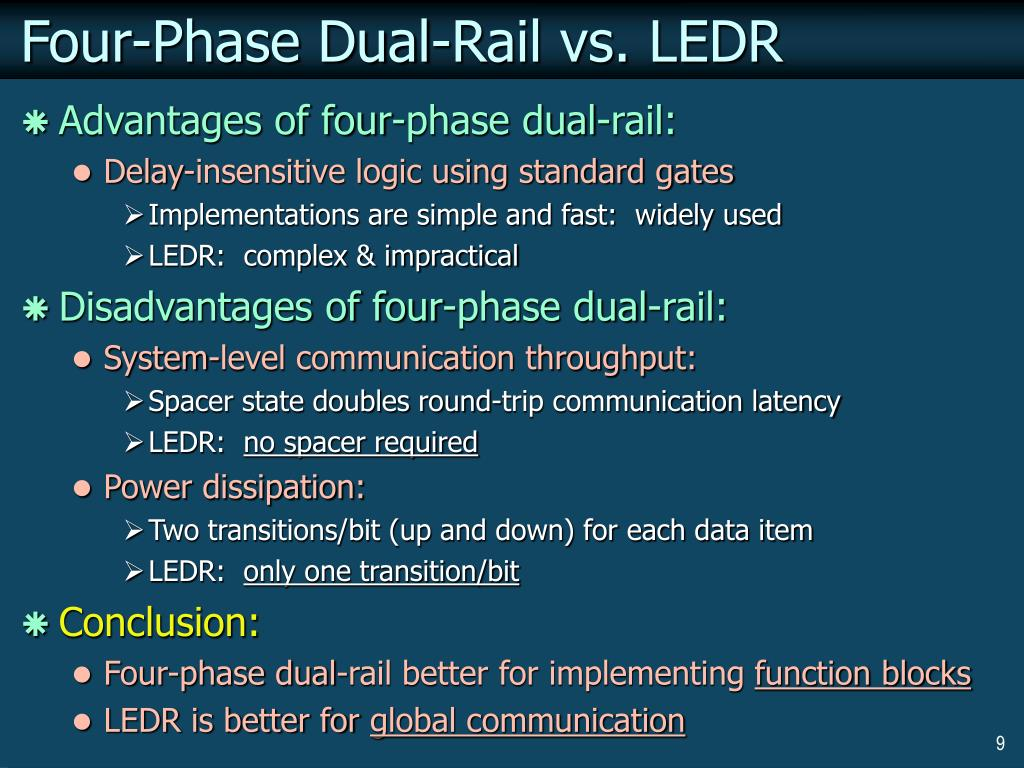 Four-Phase Dual-Rail vs. LEDR
