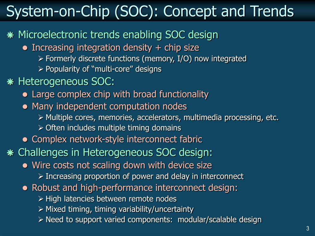 System-on-Chip (SOC): Concept and Trends