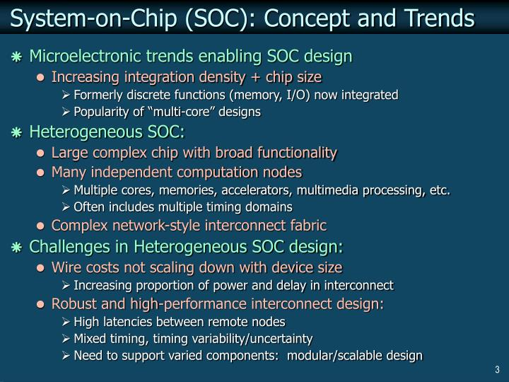 System on chip soc concept and trends