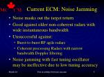 current ecm noise jamming