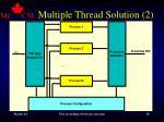 multiple thread solution 2
