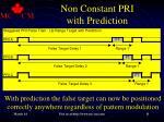 non constant pri with prediction