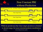 non constant pri without prediction