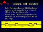 solution pri prediction