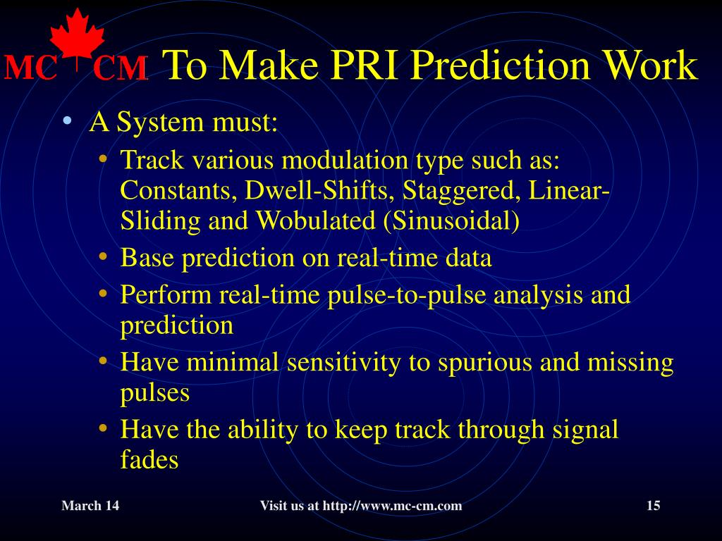 To Make PRI Prediction Work