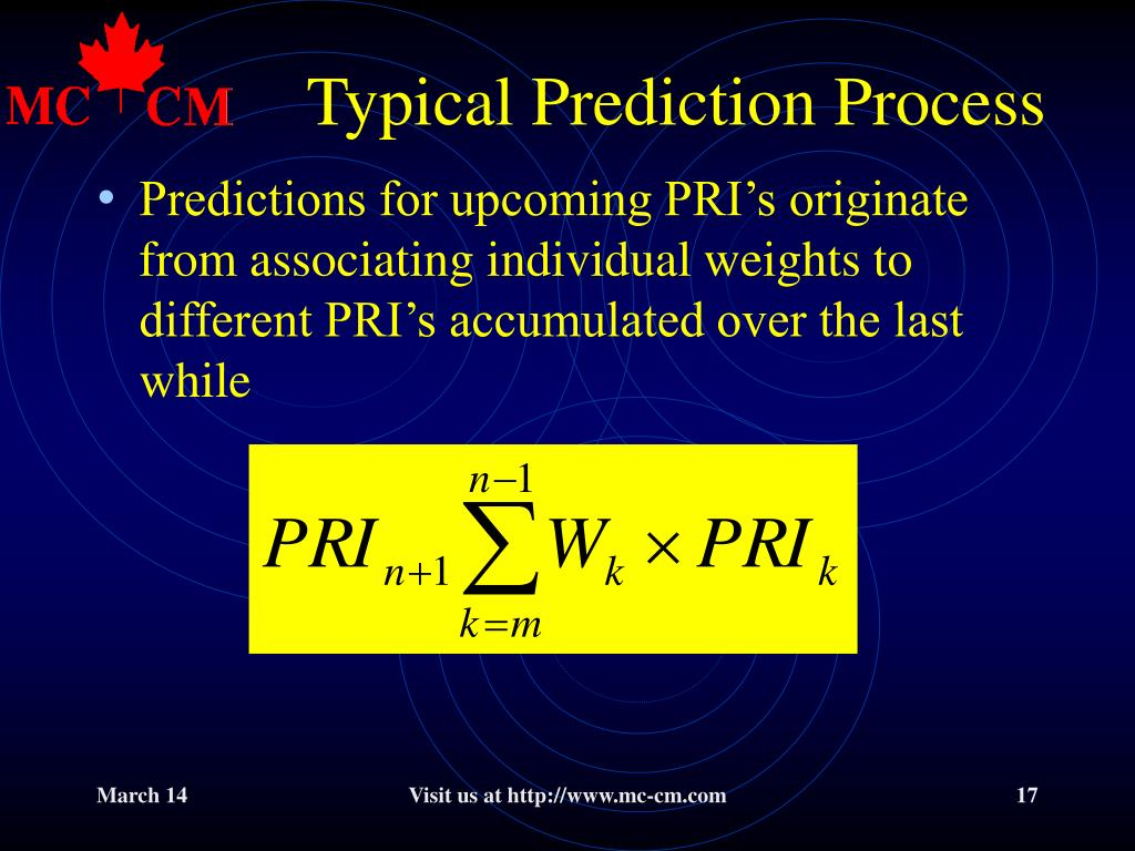 Typical Prediction Process