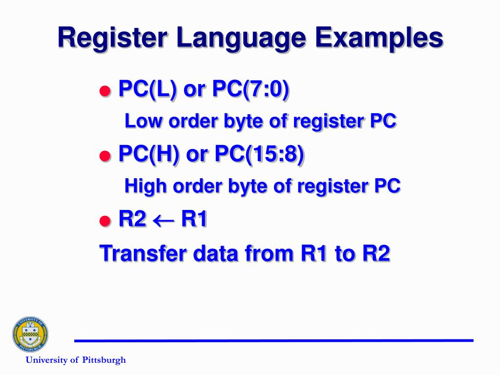 Register Language Examples