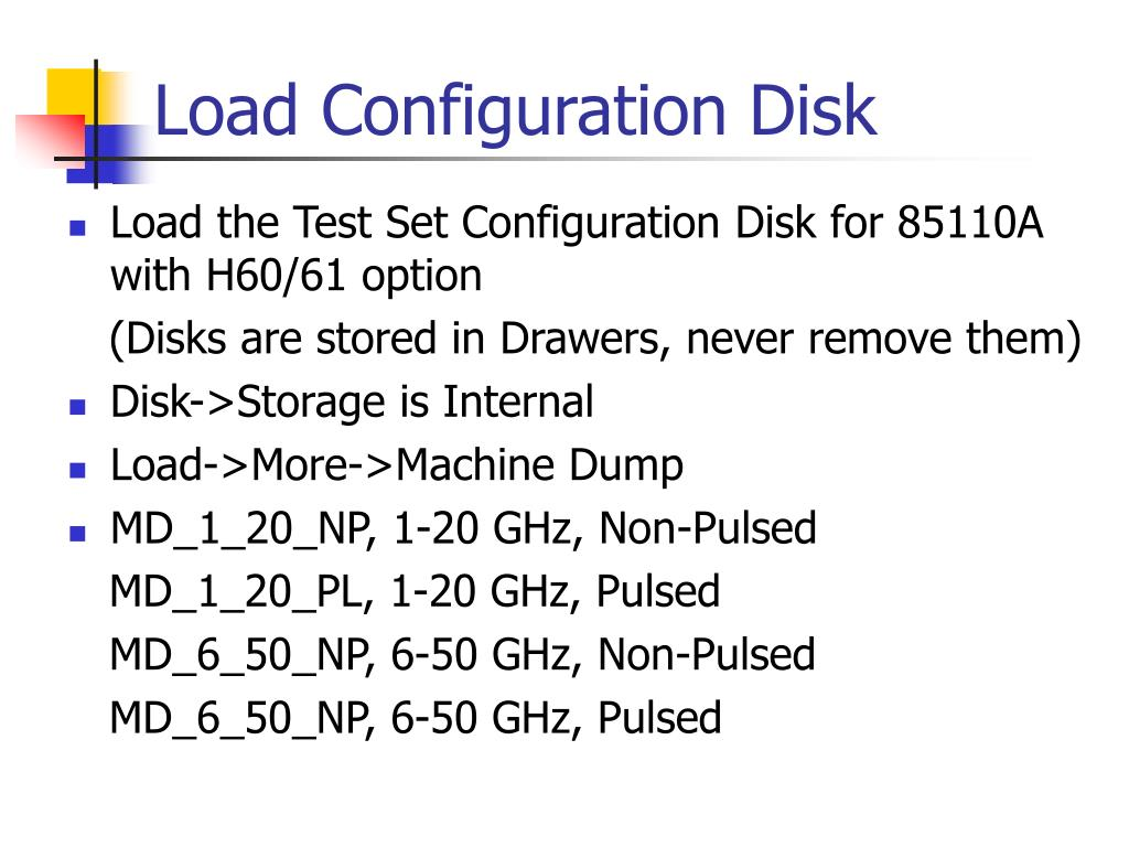 Load Configuration Disk