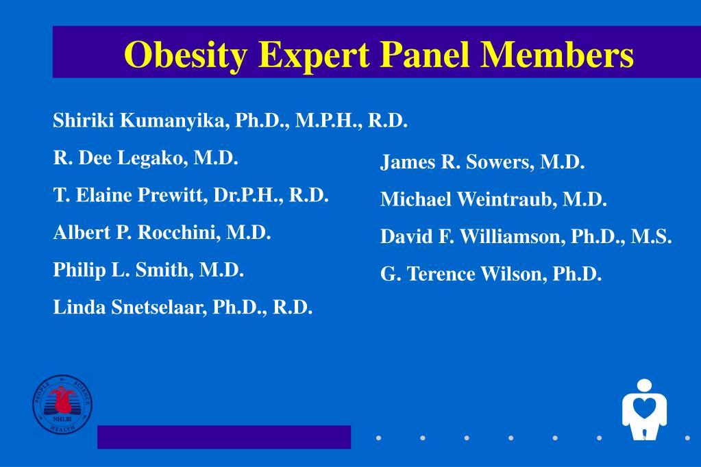 Obesity Expert Panel Members