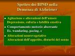 spettro dei bpsd nella demenza di alzheimer17