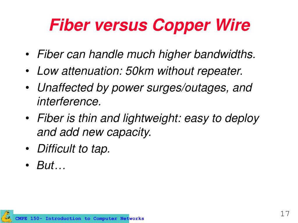 Fiber versus Copper Wire