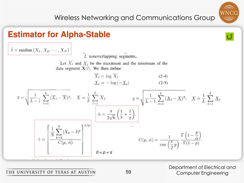 Estimator for Alpha-Stable