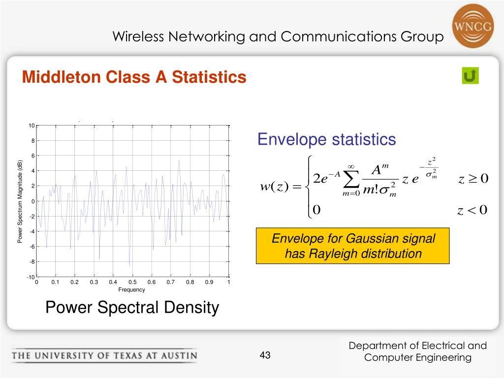 Middleton Class A Statistics