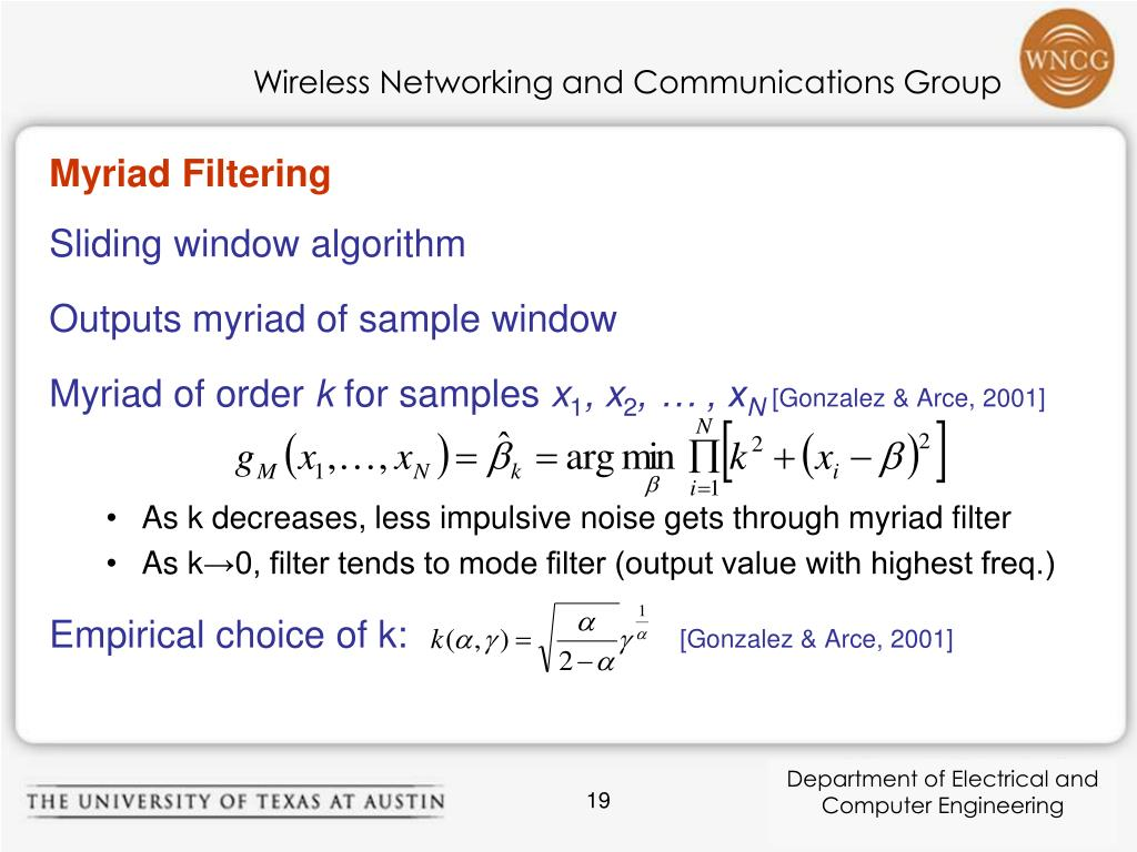 Myriad Filtering