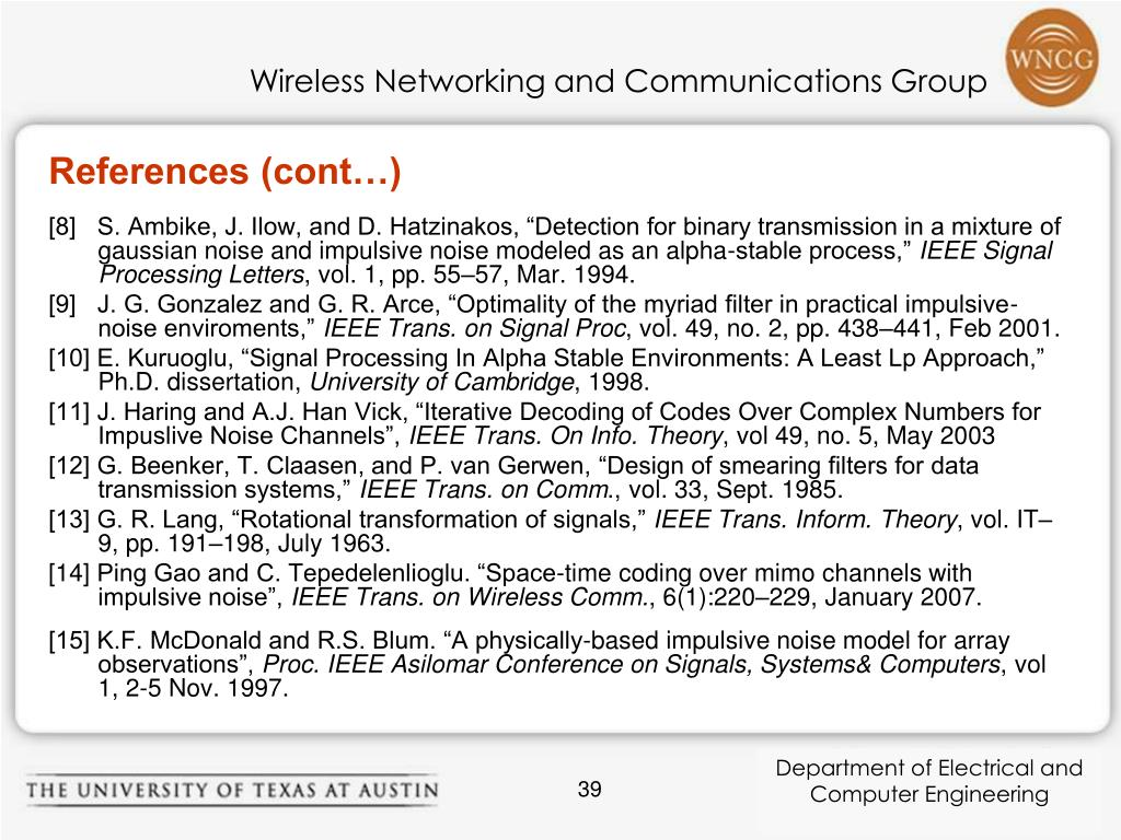 References (cont…)
