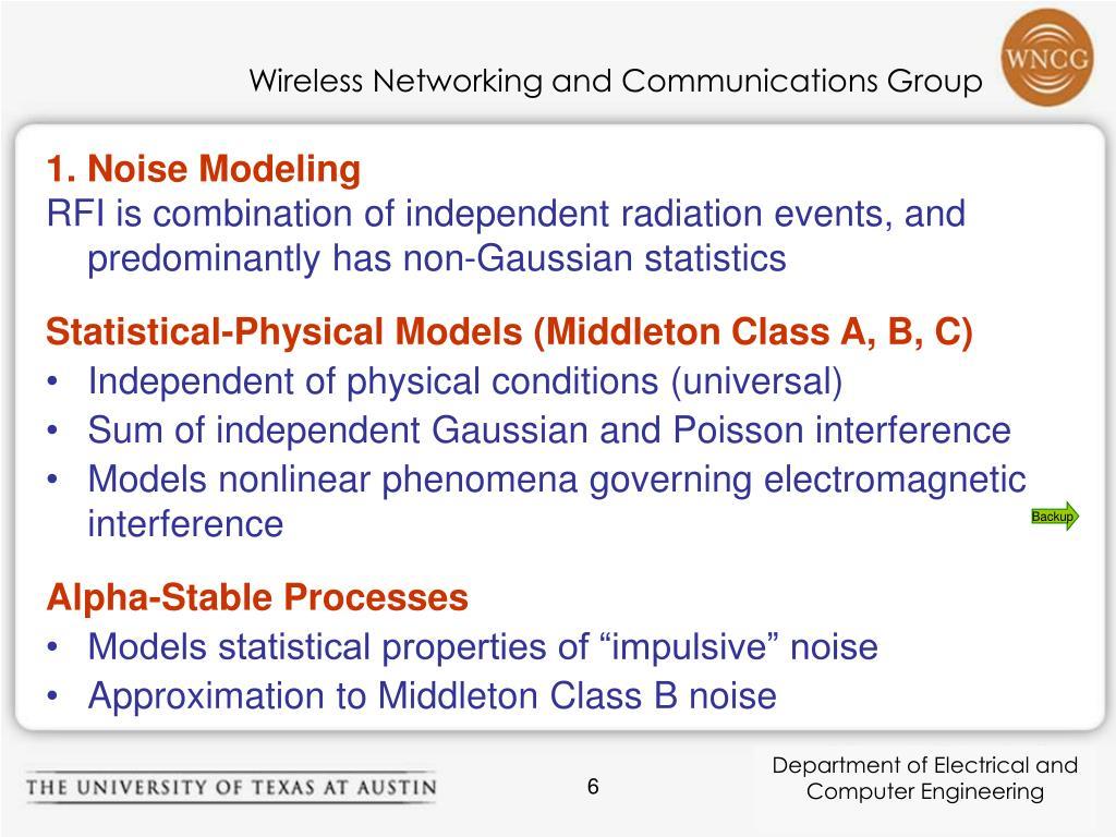 1. Noise Modeling