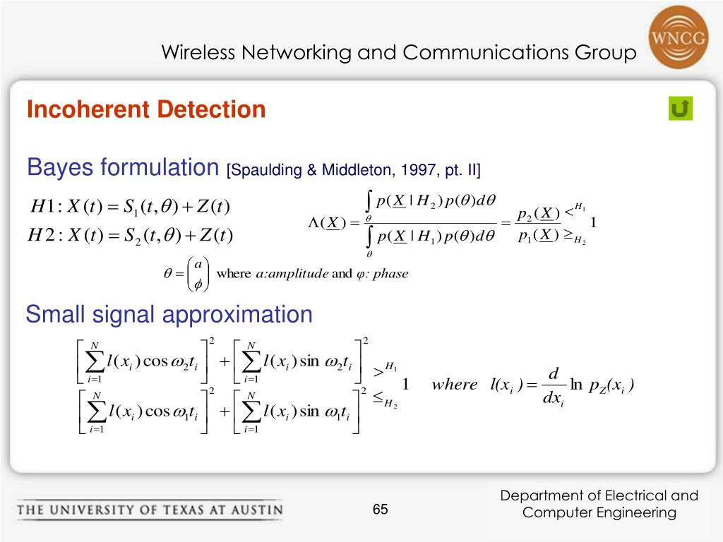 Incoherent Detection
