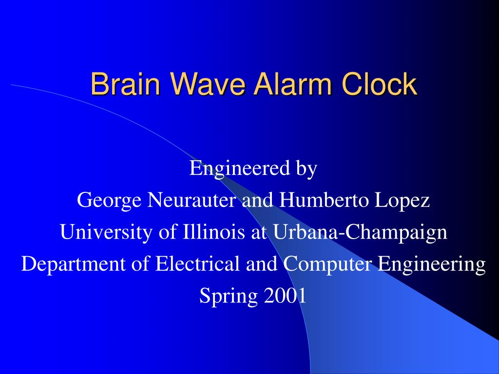 Brain Wave Alarm Clock