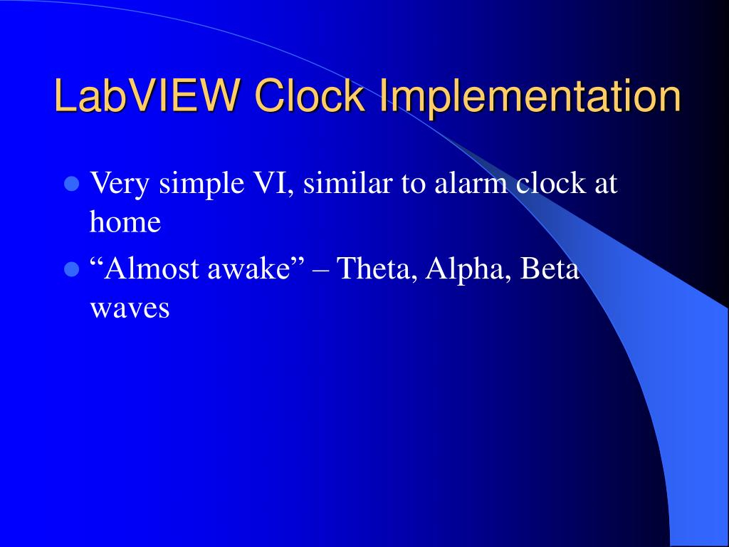 LabVIEW Clock Implementation