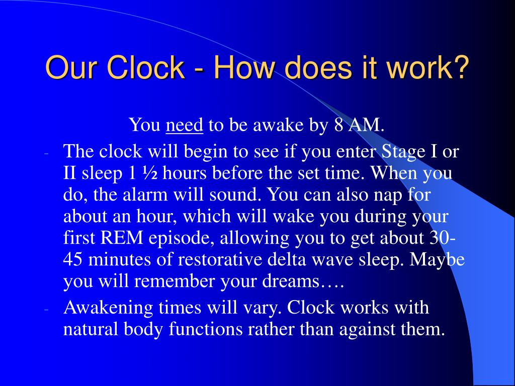 Our Clock - How does it work?