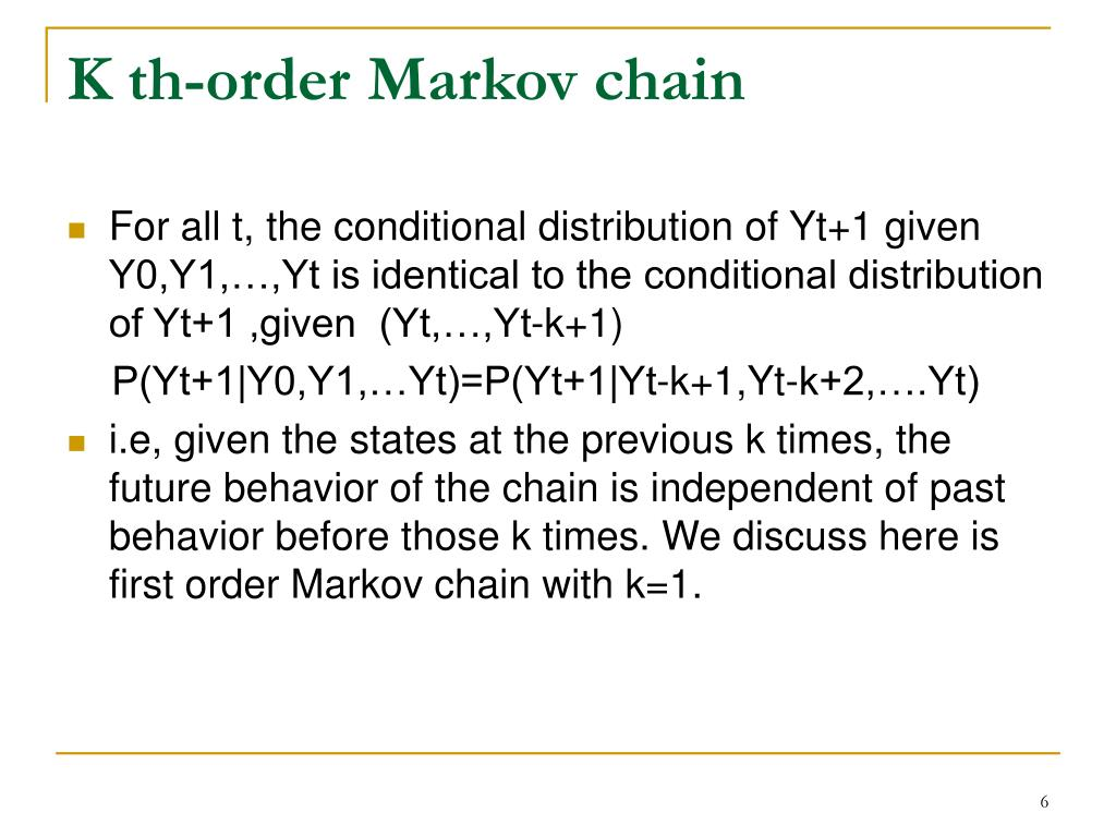 K th-order Markov chain