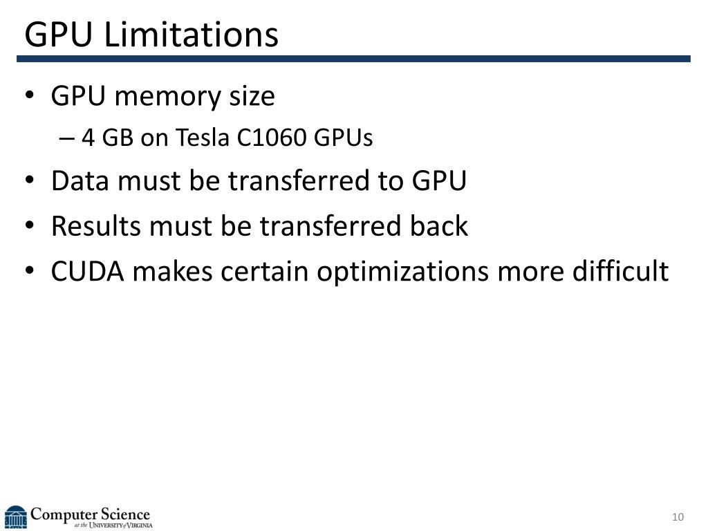 GPU Limitations
