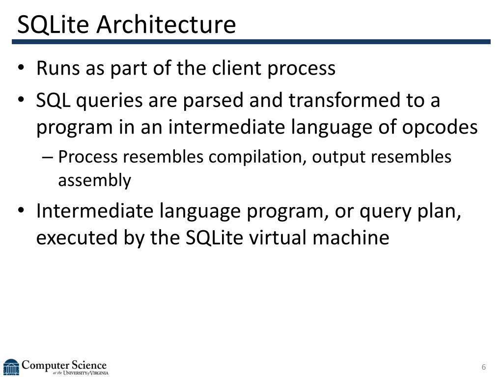 SQLite Architecture