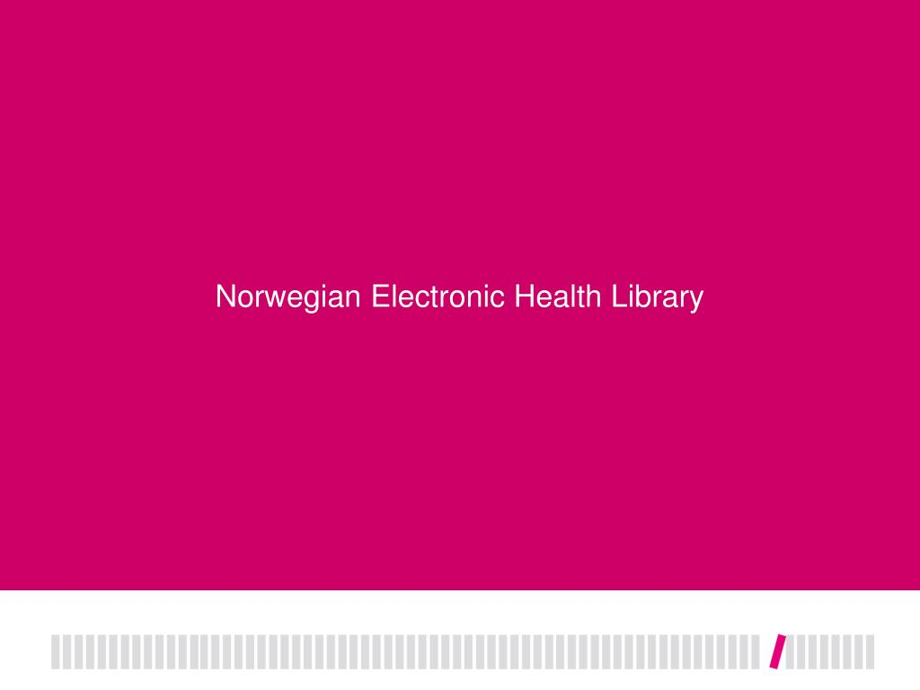 Norwegian Electronic Health Library