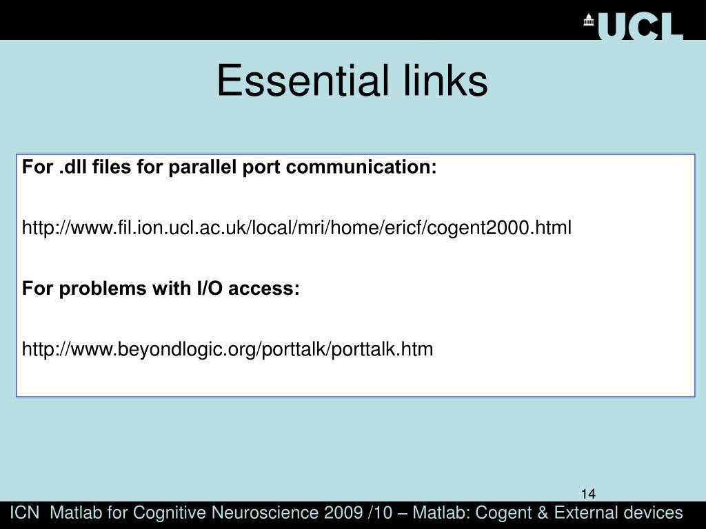 Essential links