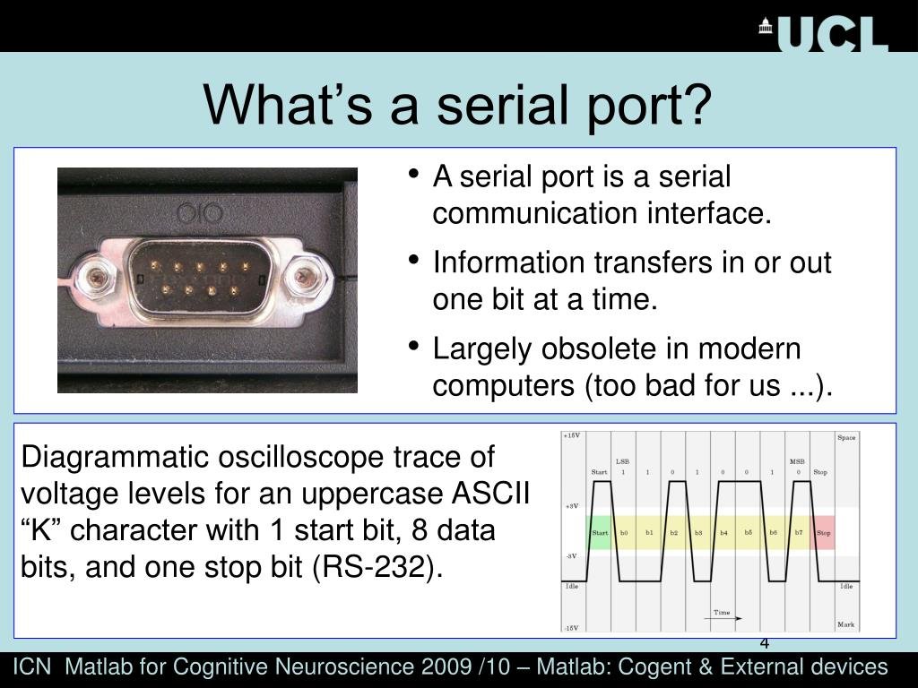 What's a serial port?