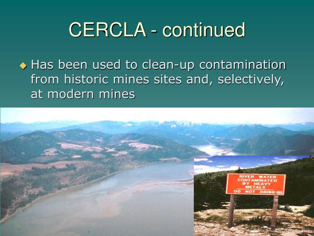 CERCLA - continued