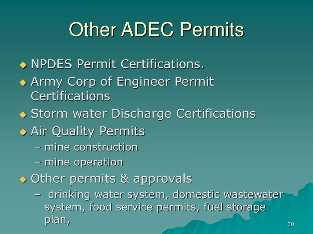 Other ADEC Permits