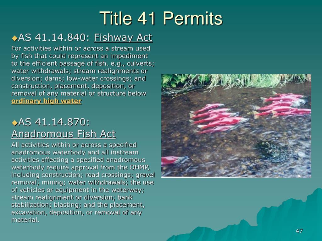 Title 41 Permits