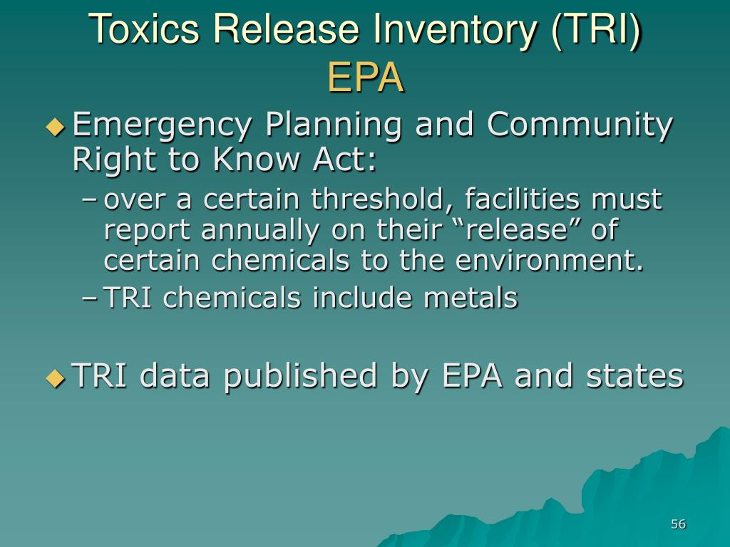 Toxics Release Inventory (TRI)